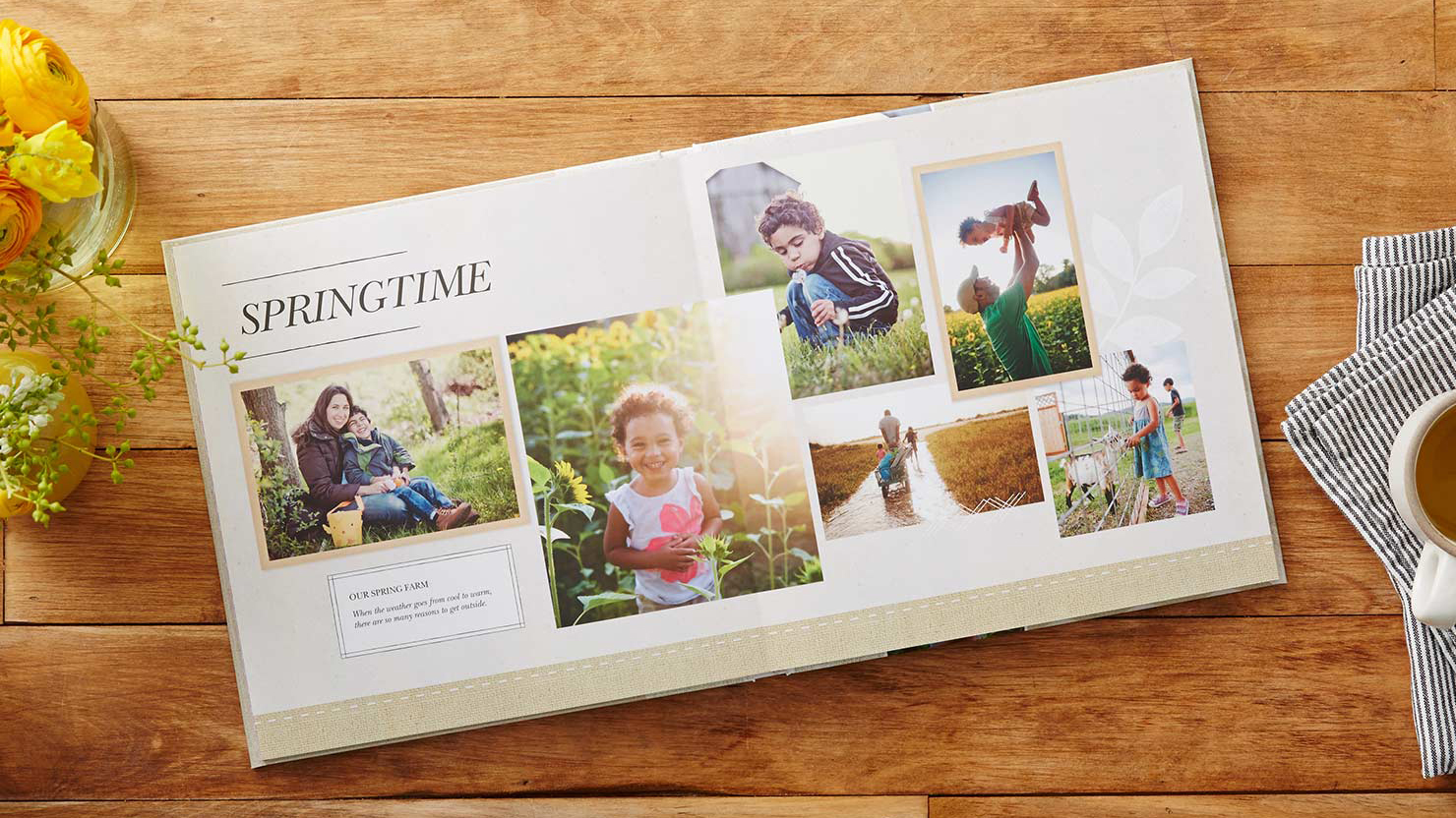 A photo book from Shutterfly