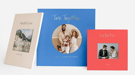 Selection of photo book designs from Artifact Uprising