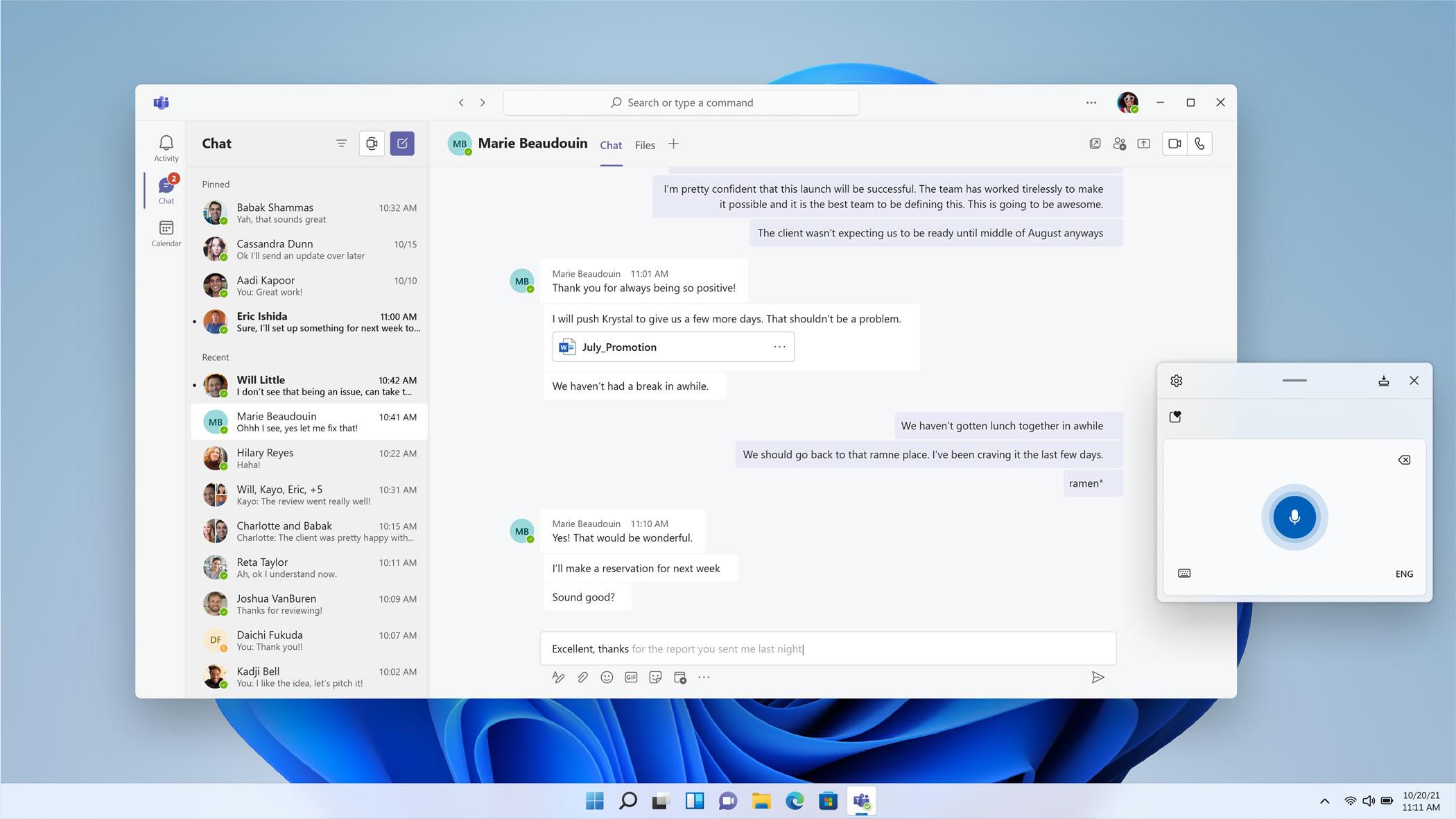 Windows 11 hint of October release