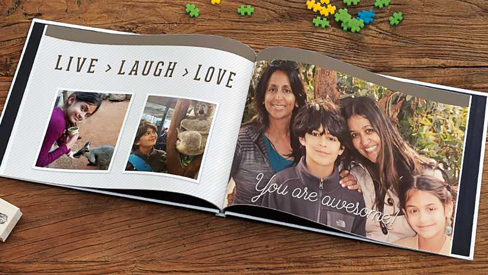 A photo book from Snapfish